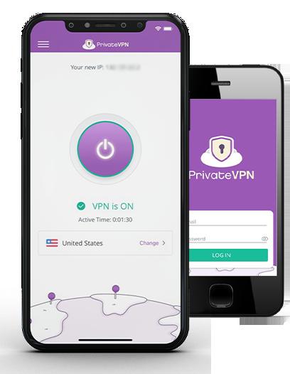 PrivateVPN smartphone